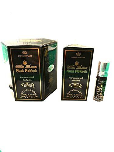 Business Square Paquete de 6 Fragancia de Almizcle Al Rehab Musk Makkah 6 ml 100% aceite