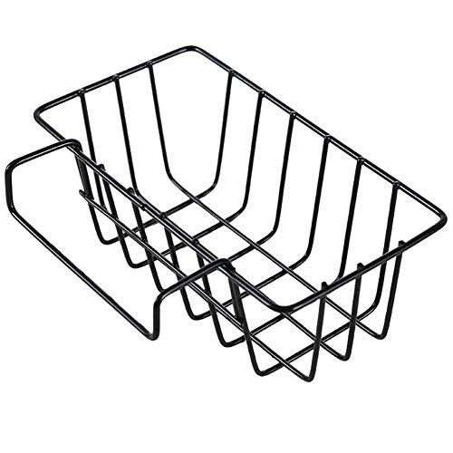 Lzttyee Kitchen Metal Hanging Sink Caddy Sink Draining Rack Organizer Brush Sponge Holder (Black)