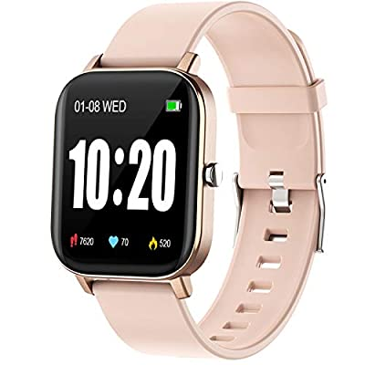 """PUBU Smart Watch, Fitness Tracker with Heart Rate Monitor, Activity Tracker with 1.3"""" Touch Screen, Smartwatch with Sleep Monitor, Step Counter for Women and Men"""
