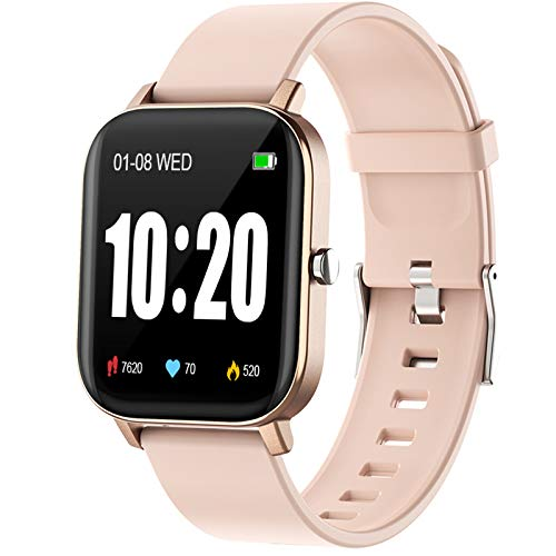 PUBU Smart Watch, Fitness Tracker with Heart Rate Monitor, Activity Tracker with 1.3' Touch Screen, Smartwatch with Sleep Monitor, Step Counter for Women and Men