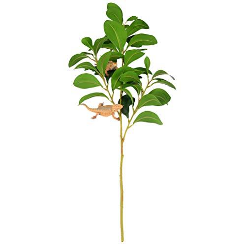 Balacoo Plantas trepadoras de Reptiles, Ramas de árboles de Reptiles simuladas, Adornos de decoración de Plantas realistas de terrarios para Reptiles y Anfibios