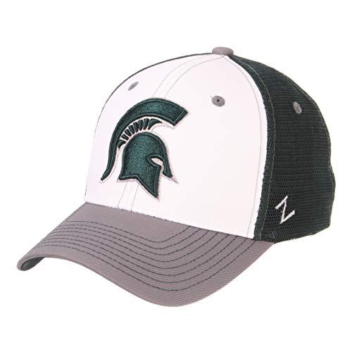 Zephyr NCAA Herren Threepeat Relaxed Cap, Herren, Threepeat, White/Team Color, Einstellbar
