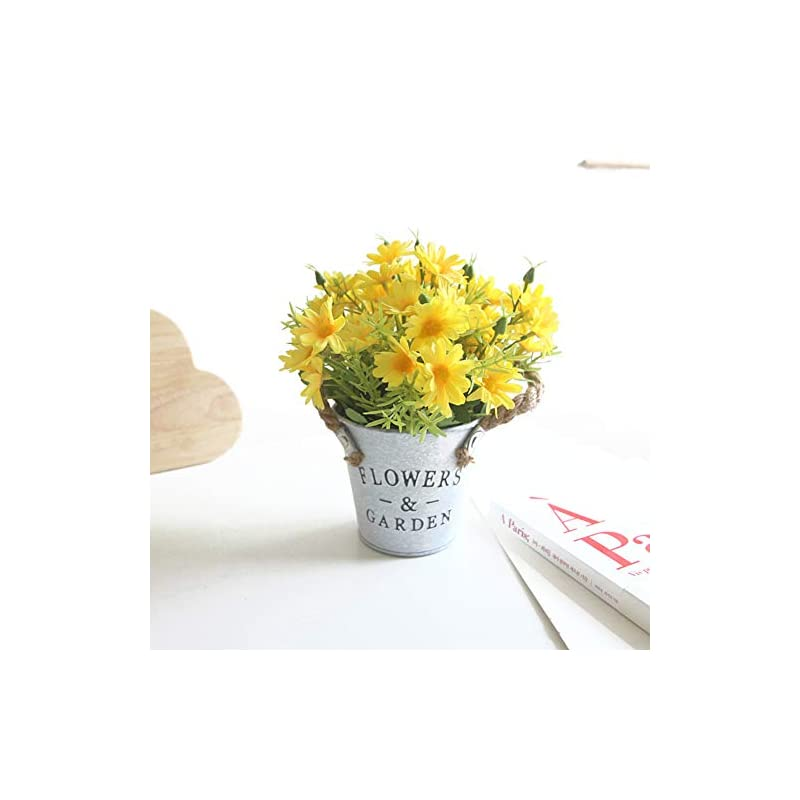 silk flower arrangements charmly artificial flowers potted european style design silk daisy arrangements bonsai house office restaurant table centerpieces windowsill decor daisy-spring yellow