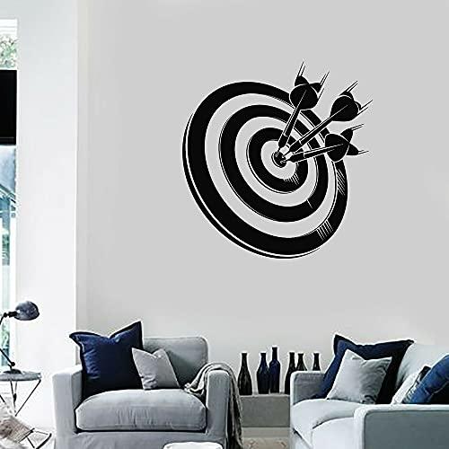 Dardos vinilo adhesivos de pared para niño dormitorio objetivo para juego de disparos arte deporte pegatinas mural pared carteles decoración papel pintado 56 x 57 cm