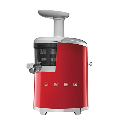Smeg SJF01 Slow Juicer – Entsafter, rot mit Rezeptbuch 42x27x17cm