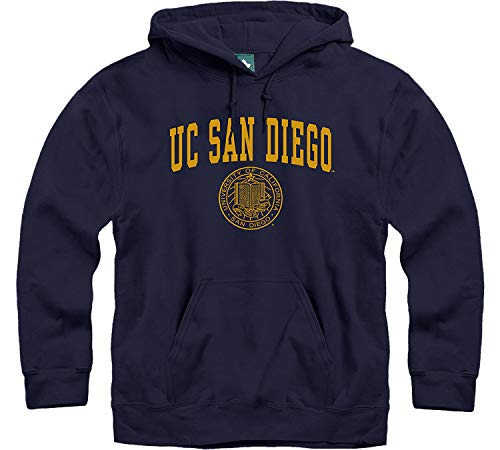 Ivysport University of California - San Diego King Tritans Hooded Sweatshirt, Heritage, Navy, Large