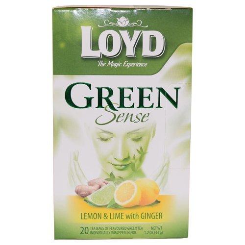 Loyd Grüner Tee Lemon Lime Ginger 20 Teebeutel Grüntee Zitrone Ingwer Green Tea