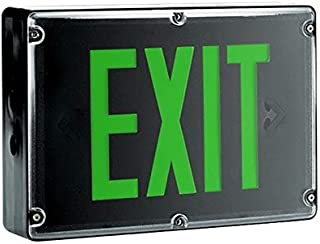 Green Freezer Rated LED Exit Sign