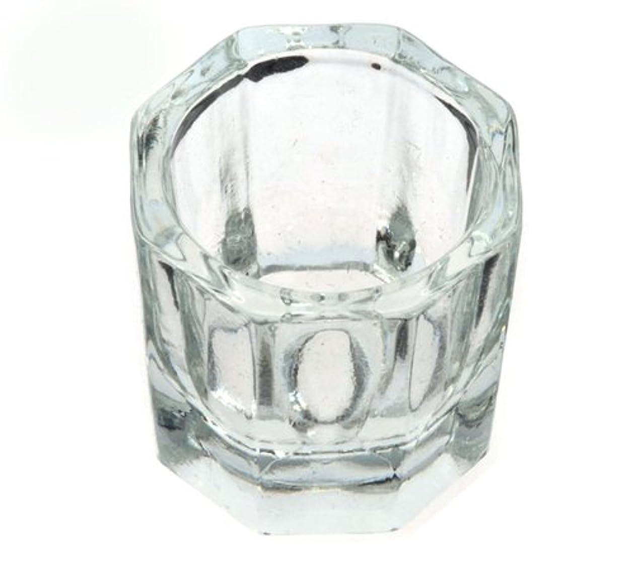十分です魅惑的な塩ダッペンディッシュ グラスディッシュ 筆洗い ガラス容器 ジェルネイル用筆洗浄