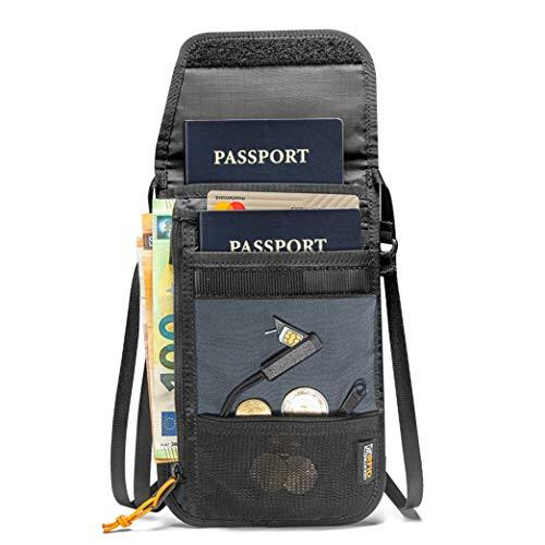 tomtoc パスポートケース 首下げ スキミング防止 クレジットカードポーチ SIMカード収納と出しピン 軽量 旅行便利グッズ キャッシュ 航空券 撥水加工