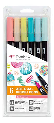 Tombow PABT-6P-4 Dual brush, ,