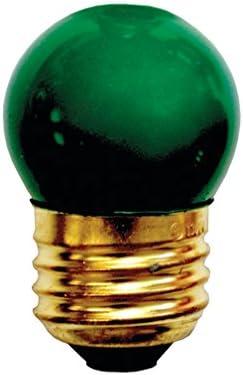 Bulbrite 702407 7 5S11G Green 7 5 Watt S11 Light Bulb 130 Volt Long Life Medium Base product image