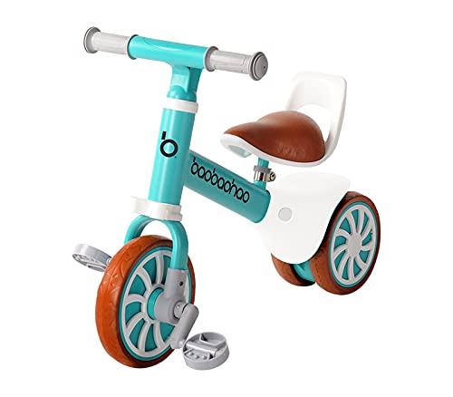 Zeroall 2 en 1 Bicicleta sin Pedales Bicicleta de Equilibrio con Pedales Desmontables,Bebes Bicicleta Baby Balance Bicicleta para Niños/Niñas 10-36 Meses Caminar Indoor Outdoor(Azul)