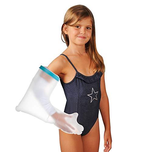 Protector de brazo de escayola para niños y duchas, resistente al agua, para envolver las lesiones, codos al bañarse con material de PVC duradero (52 cm 20 pulgadas)
