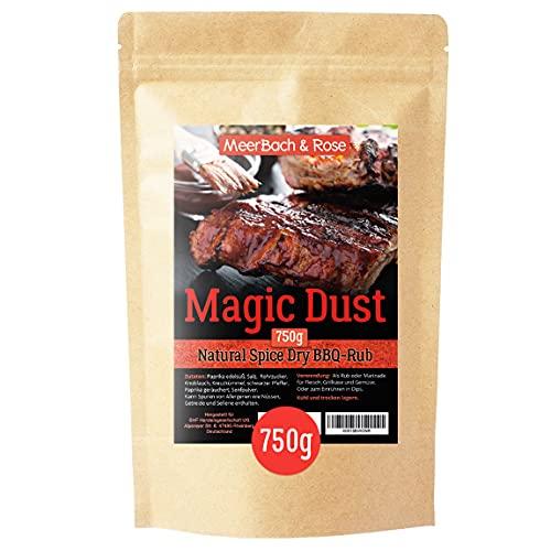 Magic Dust BBQ Rub • Gewürzmischung zum Grillen und Marinieren von Fleisch • in Deutschland von Hand abgefüllt • 750g in der XXL Vorratspackung