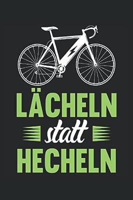 Lächeln statt Hecheln: Fahrrad Notizbuch (liniert) E-Bike Fahrradfahrer