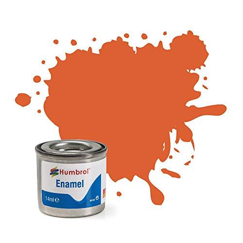 Humbrol 14ML Nr. 1TINLET Emaille Paint 82(orange Futter matt)