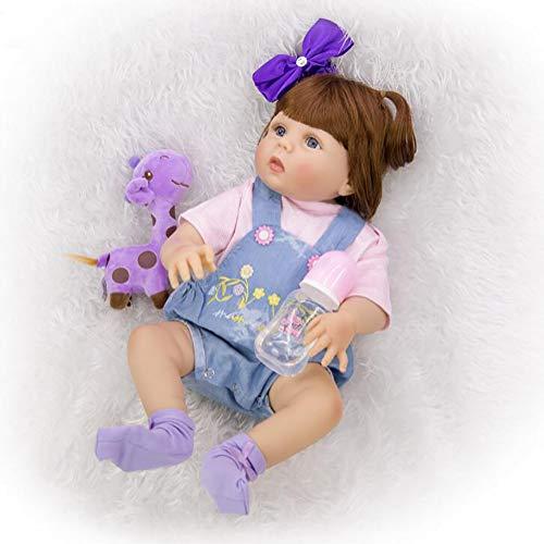 TOYSBBS Muñecas Reborn bebé 22 Inch 55cm Reborn Niña Dolls Toddler Vinilo Suave Baby Rebirth Hecho a Mano Recién Nacido Renacimiento Ropa Realista Muñeca Silicona