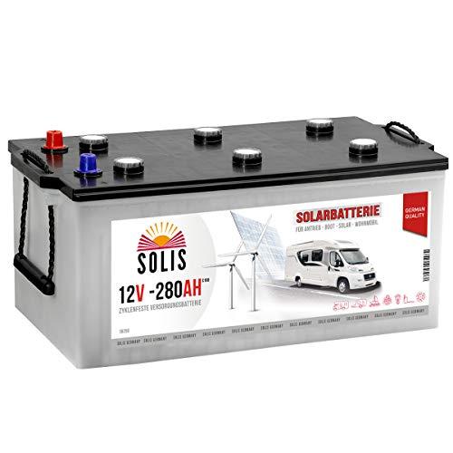 Solis Solarbatterie 280AH Antriebs Versorgungs Boots Wohnmobil Solar Caravan Batterie (280AH 12V)