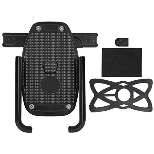 DAUERHAFT Soporte para teléfono de Motocicleta con Bloqueo mecánico y Bloqueo automático con protección de Red Reforzada Soporte para teléfono para Montar sin diseño de oclusión, para teléfono de