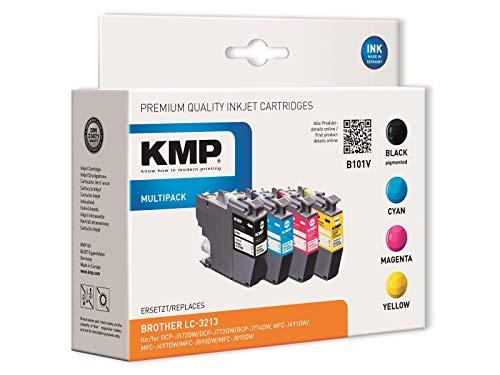 KMP - Juego de cartuchos de tinta compatibles con Brother LC-3213VAL, color negro, cian, magenta y amarillo 1539,4005