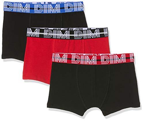 Dim Jungen 6n67100-ra 3 Boxers Badehose, Rot (Rubis 38), 12 Jahre (Herstellergröße: 12A) (3er Pack)