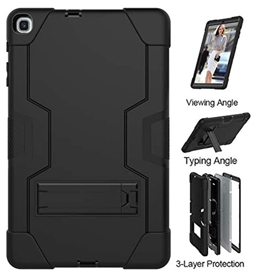 Galaxy Tab A 10.1 2019 T510 T515 Case,UZER Heavy Duty Three Layer Shockproof Anti-slip Silicone High Impact Resistant Case with Kickstand for 10.1 Inch Samsung Galaxy Tab A Tablet SM-T510 SM-T515 2019