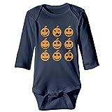 U are Friends Halloween Kürbis Neugeborene Mädchen Jungen Kind Baby Strampler Langarm Kleinkinder Shirts(2 T,Navy)