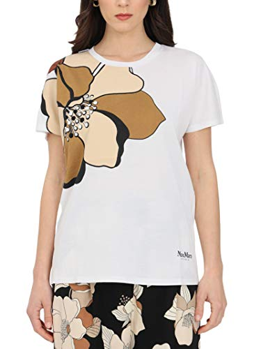 Max Mara Camiseta de mujer blanca óptica 69410311600 002 blanco...