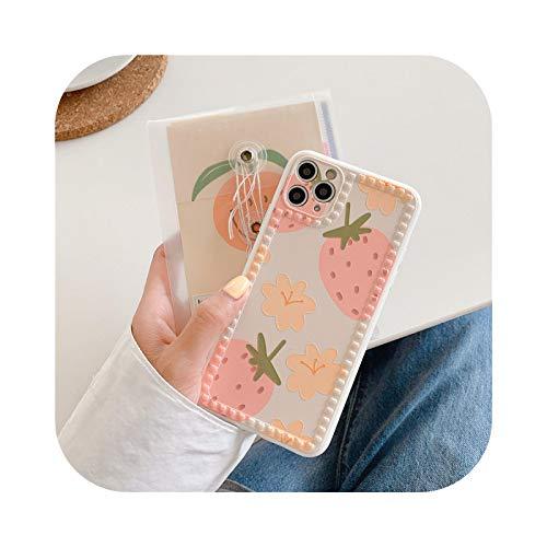 Henraly - Carcasa para iPhone 11, diseño de fresa y planta, para iPhone 11 Pro Max