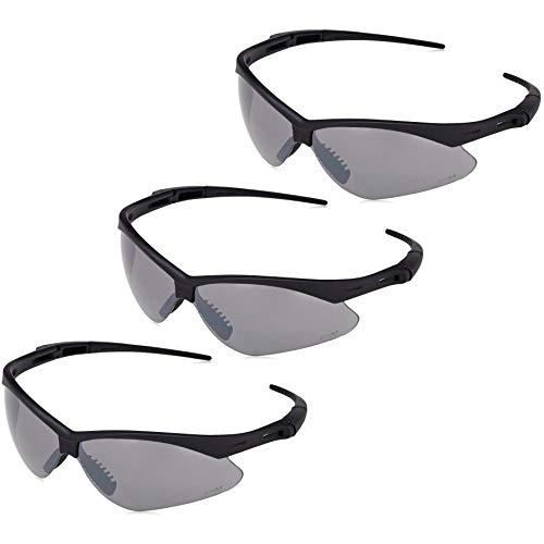 Amazon Basics Anti-Scratch Safety Glasses, UV-Resistant, Smoke Mirror Lens, 3-Count
