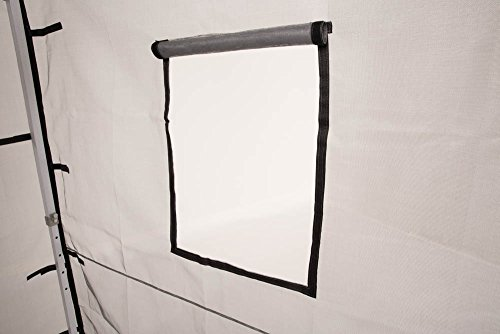 Impact Canopy Walls for 10' x 10' Canopy Tent, Food Service Mesh Sidewall Kit with Service Windows, 4 Walls Only, Black Mesh