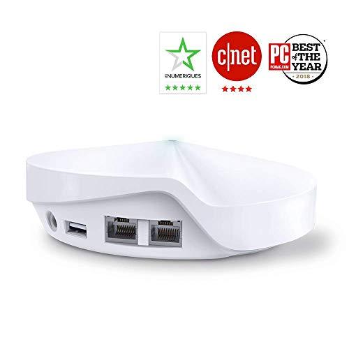 TP-Link WiFi Mesh AC 2200Mbps Deco M9 Plus(3-Pack) Système pour toute la maison - Couverture WiFi de 450㎡ - Installation Facile - Contrôle parental - Compatible avec toutes les Box Fibre