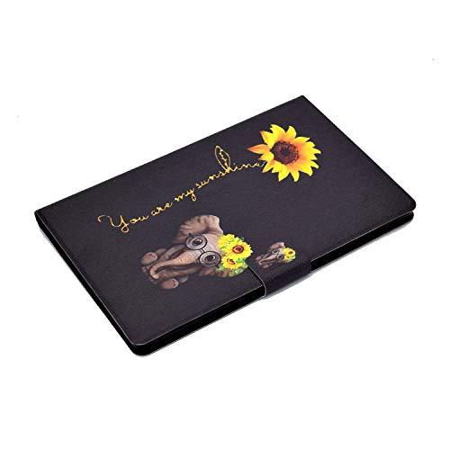 AsWant Hülle für Lenovo Tab M10 HD 2 Gen Brieftasche Flip Case Stand Funktion Schutzhülle Magnetische Tablet Hülle für Lenovo Tab M10 10,1 Zoll 2 Generation TB-X306X/TB-X306F - Daisy Elephant