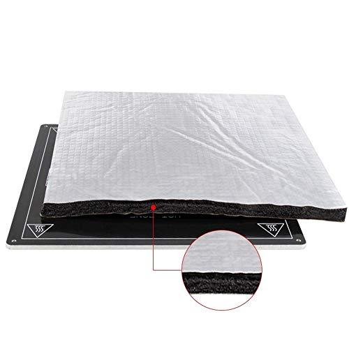 Parti della Stampante 3D Isolamento Termico Cotone, A 200/220/235/310 Millimetri Pellicola Autoadesiva Isolamento in Cotone Stampante 3D Riscaldamento Bed Sticker (Nero) (Size : 235x235x7mm)