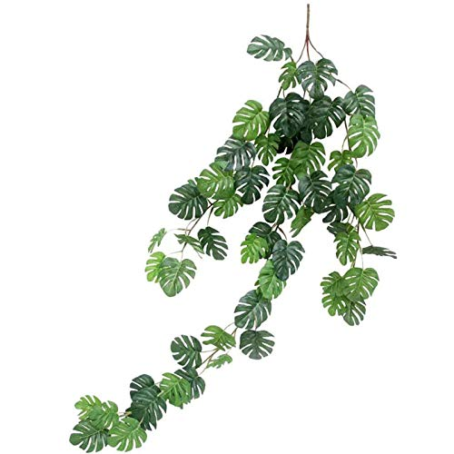 Planta Colgante Monstera, Planta Artificial Monstera, Decoración de Monstera Artificial, Planta...