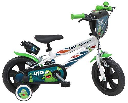 DENVER 12' UFO Ref. 2142, Bicicletta Bambino, Bianco/Nero/Verde