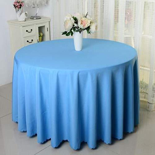 EDCV bruiloft hotel tafelkleed tafel cover overlay tapetes tafelkleed zwart 10 stks polyester ronde wit tafelkleed voor, lichtblauw