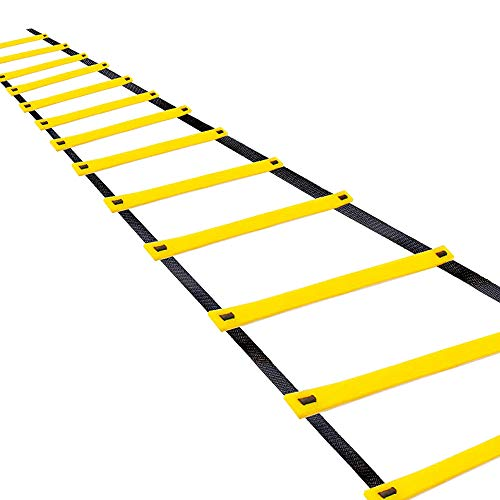 Teenitor 13 Rung Agility Ladder Speed Ladder Training Ladder for Soccer, Speed, Football Fitness Feet Training Carry Bag
