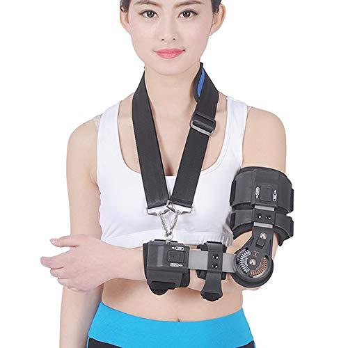 WY-Elbow Síndrome del Codo - Bisagras Cabestrillo Brazo - Vendaje neuromuscular| Coderas para tendinitis, prevención Dolor postoperatorio del fijador del Brazo,Left
