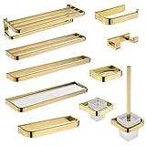 Accesorios de baño Sets de Oro baño Set de accesorios de montaje en pared barra de toalla soporte de papel higiénico...