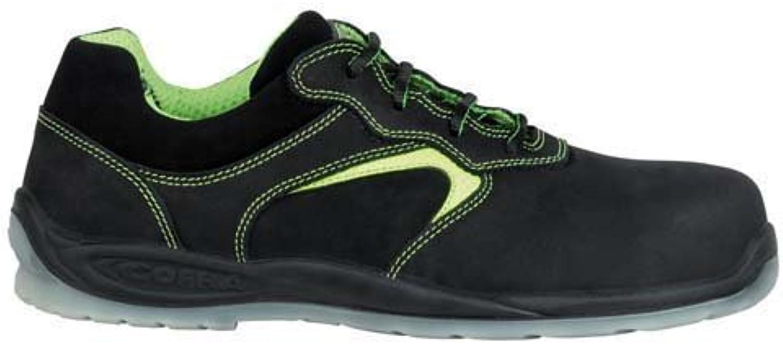 Cofra 11410-002.W39 shoes,  Mendeleev , S3, Size 5.5, Black Green - EN safety certified