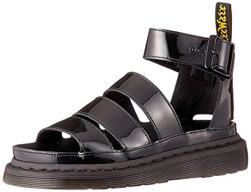 DR MARTENS Womens Clarissa II Open teen riem platform uitgesneden sandalen - zwart - 6