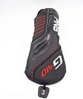 PING G410 3 Wood Fairway Headcover Black and Red with Tag