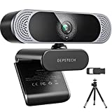 4K Webcam, 2021 DEPSTECH HD 8MP Sony Sensor Autofocus Webcam with Microphone, Privacy Cover and Tripod, Plug and Play USB Computer Web Camera for Pro Streaming/Online Teaching/Video Calling/Zoom/Skype