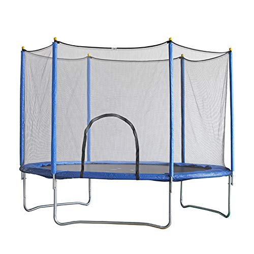 SUIBIAN Garden Trampoline, Outdoor Trampoline Children's Fitness Large Trampoline Indoor and Outdoor with Protective Net Spring Trampoline Non-slip Breathable Mat 6FT, 8FT, 10FT,12FT