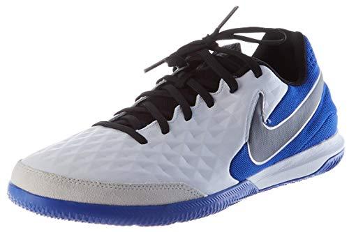 Nike Herren Legend 8 Academy IC Futsal-Schuh, White/Black-Hyper RO,47 EU