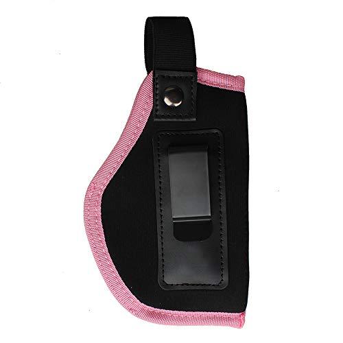 Kosibat Inside The Waistband Holster for Women Gun Concealed Carry fits G17 G26 G27 G29 G30 G33 G43 Springfield XD XDS Taurus PT111, Not fit Small Handguns Holster (Pink, Right Hand)