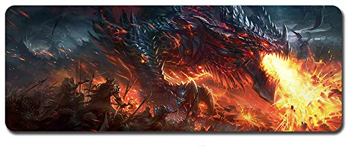 Mouse Pad,Professional Large Gaming Mouse Pad, World of Warcraft Mouse Pad,Extended Size Desk Mat Non-Slip Rubber Mouse Mat (4, 800 x 300 x3 mm / 31.5 x 11.8 x 0.12 inch)