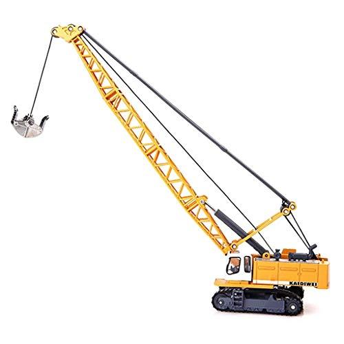 IIIL Camión Excavador Ingeniería Automotriz Modelo Torre Grúa, 1:87 Aleación Fundida Presión Cabrestante Giratorio Puede Abrir Regalo para Niños Juguete